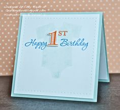 Celebrating a 1st birthday using Memorable Moments from Stampin' Up
