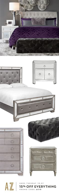 15% off bedroom furniture and EVERYTHING else for your home during our A to Z Sale. Shop in stores and on zgallerie.com through 10.27.2015.