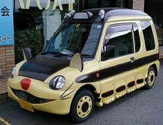 cat design car. i feel not so cute...