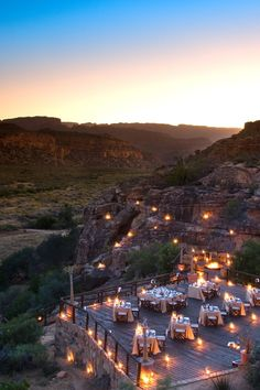The Embers dining area offers panoramic meals under the stars   Bushmans Kloof Wilderness Reserve (South Africa) - Jetsetter