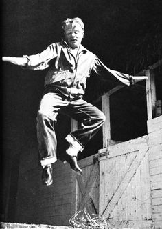 James Cagney dancing on his farm, 1950s.