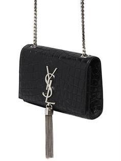 saint laurent - women - shoulder bags - monogram embossed leather bag