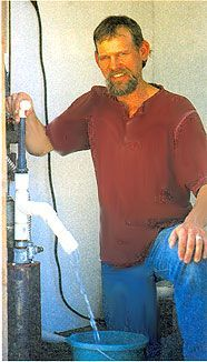 John Hartz builds a homemade PVC manual well pump that is simple to use and pumps water from as deep as 60 feet.