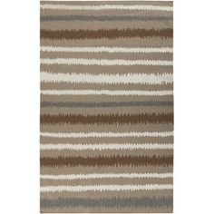 Surya Frontie Brown/Tan Striped Area Rug Rug Size: