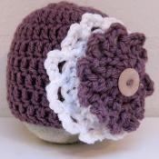 Big Flower Newborn Baby Hat Beanie - via @Craftsy