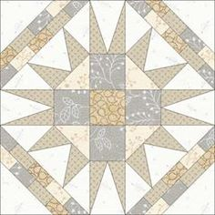 Block 35 of 'Framed Star ⭐️ Block' for today. I am participating in the by designing and sewing a quilt block a day for 100 days. Monochromatic Quilt, Neutral Quilt, Quilt Block Patterns, Pattern Blocks, Quilt Blocks, Quilting Projects, Quilting Designs, Sewing Projects, Sampler Quilts
