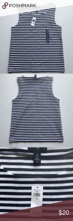 Gap navy and white stripe tank New with tag Gap navy and white stripe tank  Size XS GAP Tops
