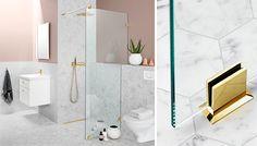 LINC Monument är en vacker duschvägg vars väggprofiler kan placeras alldeles intill hörnet och som på så sätt ge dig en mycket rymlig duschyta samtidigt som du skyddar badrumsfönstret från fukt.