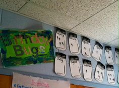 Birthday Bugs- fun way to display birthdays in a camping themed classroom.