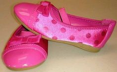 Toddler Shoes sz 7.5 Flats Pink Disney Mini Mouse Hearts Girls Dressy Party Bow
