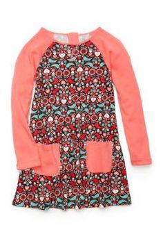 J. Khaki  Heart Acorn Print Dress Toddler Girls
