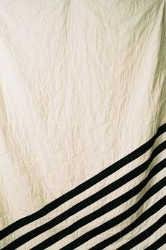Black and white striped quilt by Leslie Krout