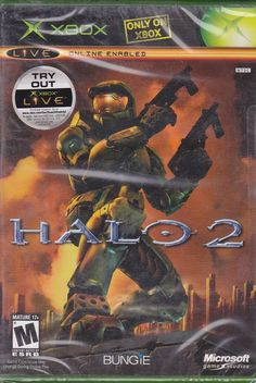 Halo 2 / Factory Sealed / XBOX 2004 / Bungie Video Game #Halo2 #Xbox #VideoGame