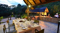 Open restaurant at Matobo Hills Lodge