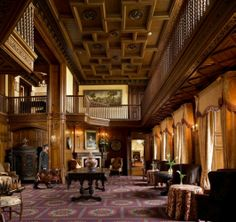 """Grand lobby - Ashford Castle - County Mayo, Ireland - built 1228 - midieval architecture with """"modern"""" changes made over the centuries since - now a world class hotel Ashford Castle Hotel, Chateau Hotel, County Mayo, Castles In Ireland, Leading Hotels, Paradise On Earth, Beautiful Castles, Beautiful Places, Home Plans"""