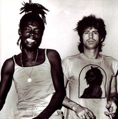 Peter Tosh and Keith Richards  Peter Tosh  Jamaican reggae musician who was a core member of the band The Wailers