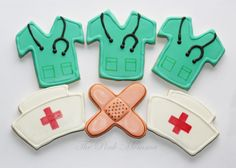 nurse themed cookies