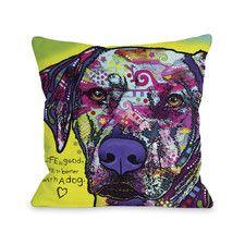 Doggy Décor Rhodesian Ridgeback Polyester Throw Pillow