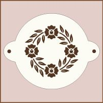 Round cake top stencils designed for 8 inch and 9 inch round cakes