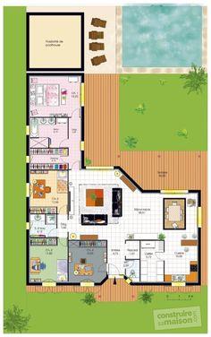 Plan habillé Rez-de-chaussée - maison - Bungalow de luxe Plus