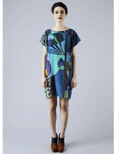 Taisir Gibreel - Silver Dew Rainbow Silk Shift Dress – shopprettythings
