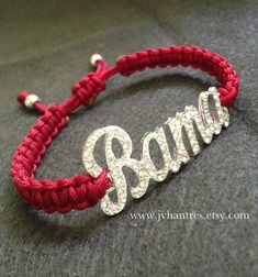 Alabama Crimson Tide Football Game Day Bracelet Qty 1 by JVHANTRES, $15.00