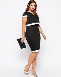 Lipstick Boutique Plus Size 2 in 1 Cape Pencil Dress