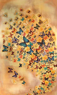 Butterflies on Ochre, Lily Greenwood