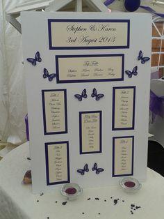 Purple butterfly table plans