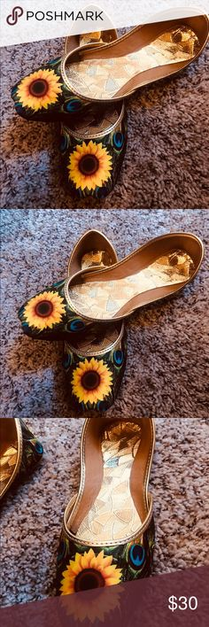 63edf5edd3269 Girl sunflower flat shoes. Flip Flop ...