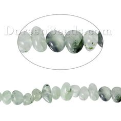 Worldwide Free Shipping (Grade B) Prehnite ( Natural ) Loose Beads Irregular Light green About 14.0mm( 4/8) x 10.0mm( 3/8), Hole: Approx 1.0mm, 40.0cm(15 6/8) long, 1 Strand (Approx 55 PCs/Strand) [B68302] at incredible low price– DoreenBeads.com