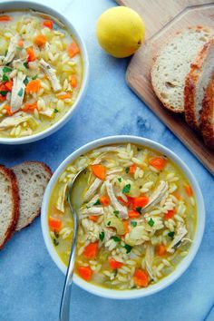 This Turkey Orzo Soup has a zesty flavorful broth with meaty pieces of turkey breast, orzo pasta, and plenty of veggies, perfect for chilly fall evenings.