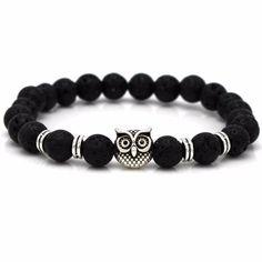 'Night Owl' Lava Stone Essential Bracelet Diffuser