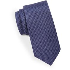 Black Brown 1826 Classic Textured Silk Tie ($44) ❤ liked on Polyvore featuring men's fashion, men's accessories, men's neckwear, ties and purple