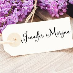 A calligraphy name stamp is the perfect thing to customize your everyday stationery, notes, memos, to do lists, gift tags, etc. and makes a