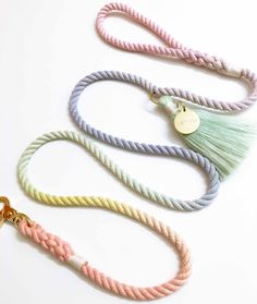 """SCOOP IT UP! THE """"SORBET"""" LEASH BY NOTYERS #NOTYERS #DOG #LEASH #MADEINUSA #PASTELRAINBOW"""
