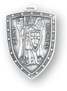 Sterling Silver Shield Shaped St. Michael Medal by HMH | Catholic Shopping .com