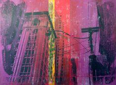 King street - Acrylics and photocopy transfer - Toronto 2014