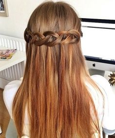 half up braided hairstyle for long hair