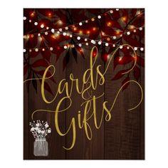 Twinkle lights rustic fall barn wood wedding sign