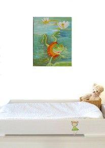 Joli tableau pour chambre de b b superbe oiseau rouge for Tableau pour chambre bebe