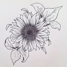 Getting a sunflower tattoo is an essential decision and a whopping deal because . - Getting a sunflower tattoo is an essential decision and a whopping deal because these tattoo designs - Tattoo Dotwork, 4 Tattoo, Tattoo Drawings, Tattoo Forearm, Tattoo Fonts, Tattoo Stencils, Tattoo Quotes, Tattoo Sketches, Side Boob Tattoo
