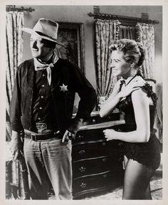RIO BRAVO (1959) - John Wayne - Angie Dickinson - Warner Bros. - Publicity Still.