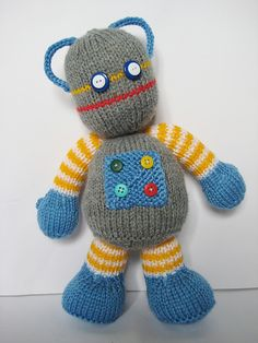 Ravelry: Beeper the Robot pattern by Amanda Berry: I think a space theme for Christmas toys would be fun and this little guy is adorable.