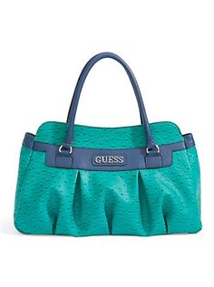 GUESS Winsome Ostrich Embossed Satchel