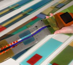 Nina Cambron Studio | Leader Fused Glass Clocks and Tiles!