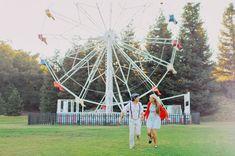 ferris wheel engagement at Calamigos Ranch