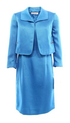Tahari By ASL NEW Blue Women's 14 Sheath 2PC Blazer Dress Suit Set $320