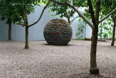 stone sphere sculpture