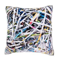Shredded Paper Collection 18-inch Velour Throw Pillow